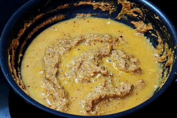 addition of water to make kadai paneer gravy