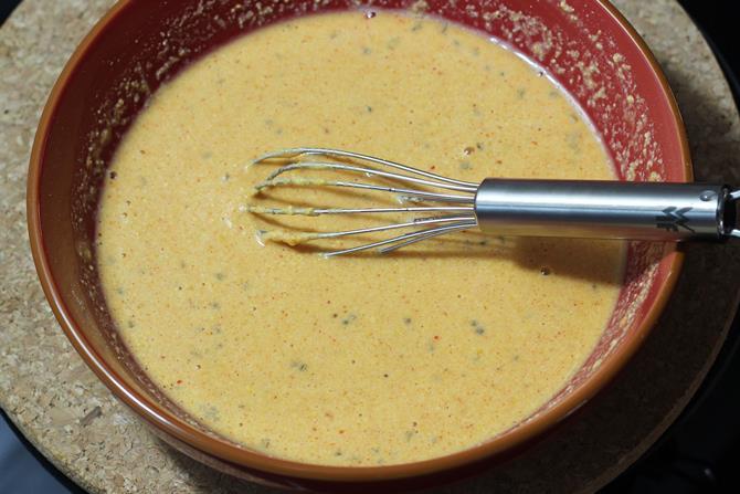 consistency of batter for bread pakora recipe