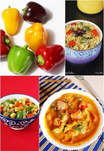Capsicum recipes | 24 Indian capsicum recipes | Bell pepper recipes