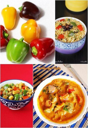 Capsicum recipes | Collection of shimla mirch recipes | Bell pepper recipes