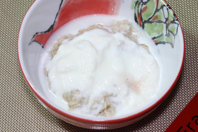 addition of yogurt for curd oats recipe for toddlers