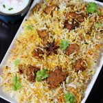 Hyderabadi mutton biryani recipe | How to make mutton dum biryani