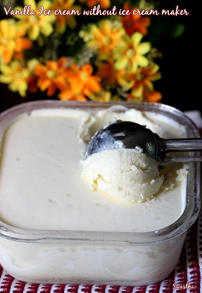 frozen set eggless ice cream recipe with condensed milk