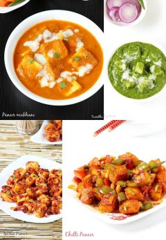 55 paneer recipes | 55 delicious easy Indian paneer recipes
