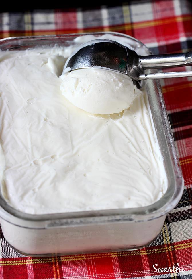 vanilla ice cream no machine