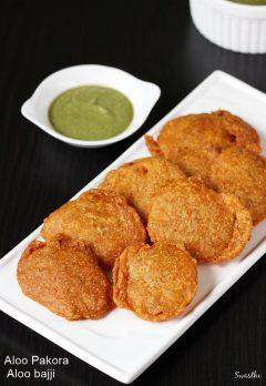 Aloo pakora recipe   Aloo or potato bajji recipe