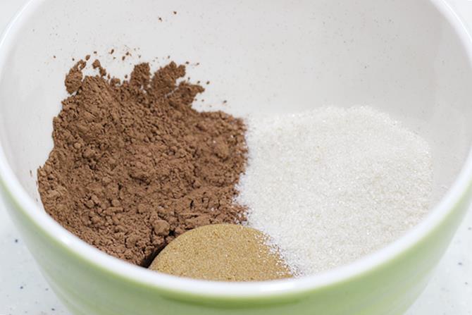 sugar cocoa powder to make chocolate ice cream recipe