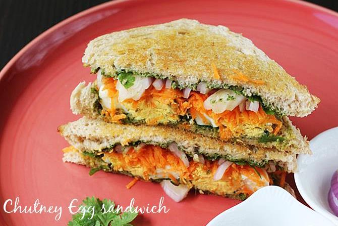 chutney egg sandwich breakfast
