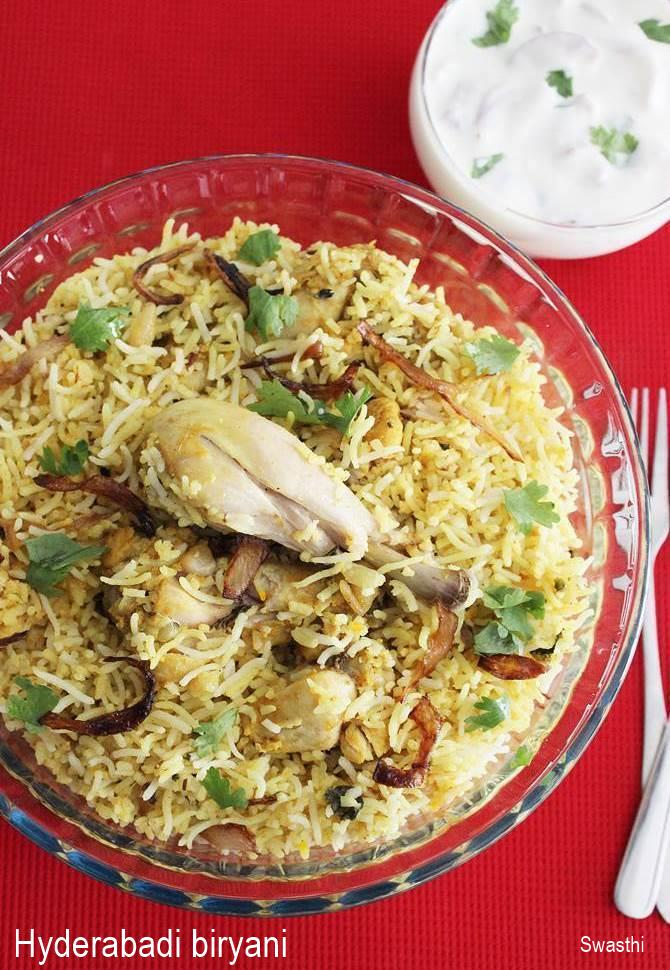 Hyderabadi biryani recipe restaurant style chicken dum biryani chicken hyderabadi biryani recipe forumfinder Images