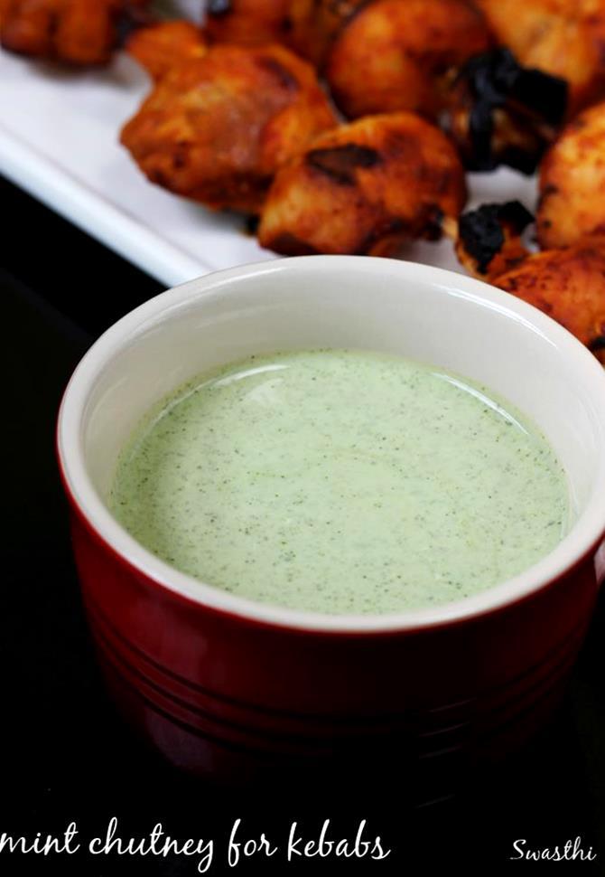 mint raita dahi chutney for kebab