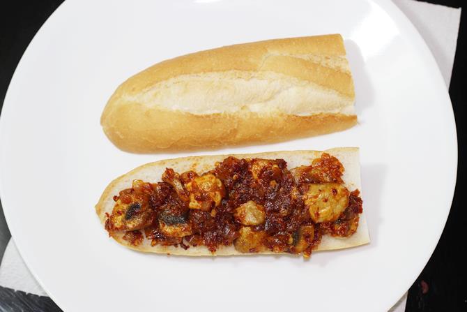 mushroom sandwich filling recipe