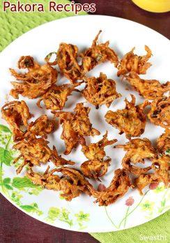 Pakora recipes | 19 pakoda recipes & bajji recipes | Indian fritters recipes