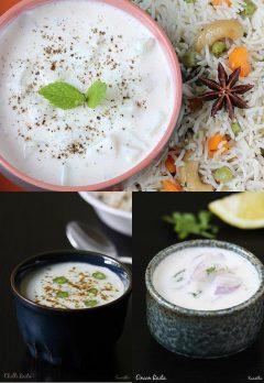 Raita recipes | 14 raita varieties for biryani, pulao, kebabs