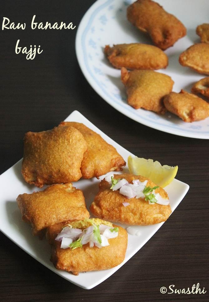 raw banana bajji swasthis recipes