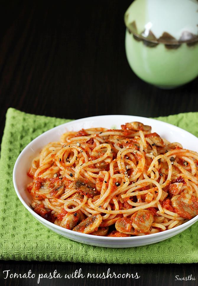 spaghetti recipe with mushrooms