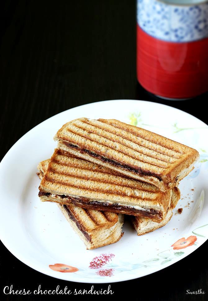 Cheese chocolate sandwich recipe