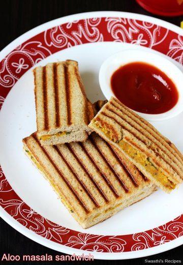 Aloo grilled sandwich recipe   Grilled potato sandwich recipe