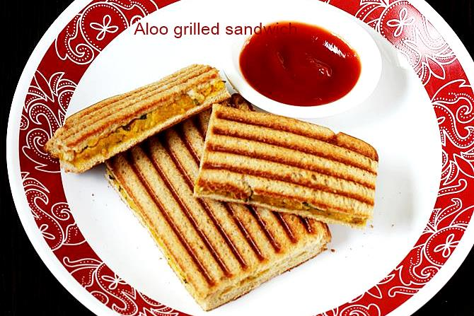 aloo grilled sandwiches