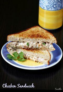 Mayo chicken sandwich recipe | Chicken sandwich with mayonnaise recipe