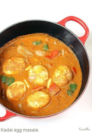 Kadai egg masala recipe   Egg capsicum curry recipe