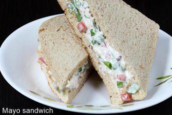 Veg mayonnaise sandwich recipe | How to make mayo sandwich recipe