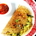 Oats masala dosa recipe |  Oatmeal dosa with potato stuffing