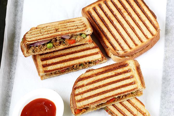 soya keema sandwich