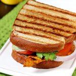 Grilled chicken sandwich on tawa | Indian tandoori chicken sandwich