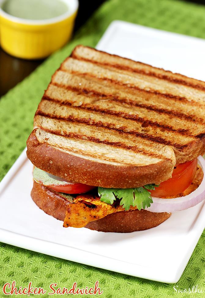 Grilled chicken sandwich on tawa indian tandoori chicken sandwich tandoori chicken sandwich recipe forumfinder Choice Image