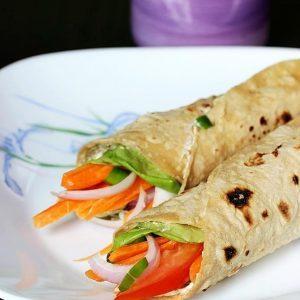 Veg Wraps Recipe | How to make Vegetable Wraps | Roti wraps