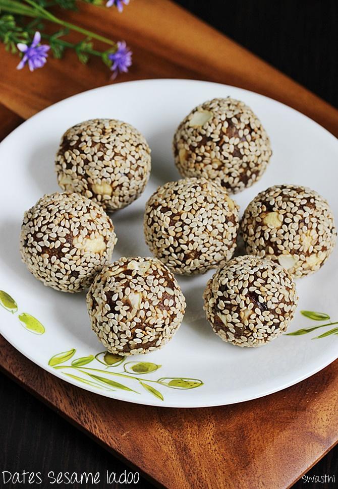 dates sesame laddu recipe