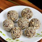 Dates sesame ladoo recipe | How to make dates sesame laddu /balls