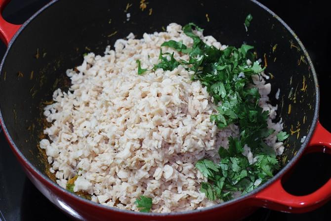 daniya in meal maker cutlet recipe