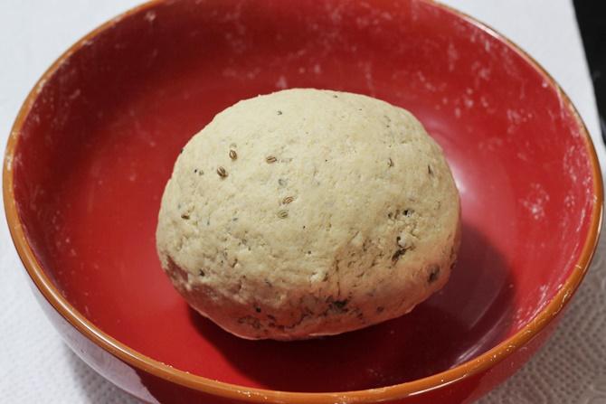 kneading for namak para recipe