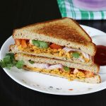 Paneer bhurji sandwich recipe in 10 mins | Tawa paneer sandwich recipe