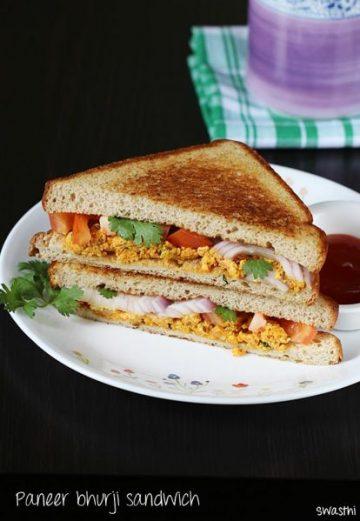 Sandwich recipes | 34 Easy sandwich recipes for breakfast or snack