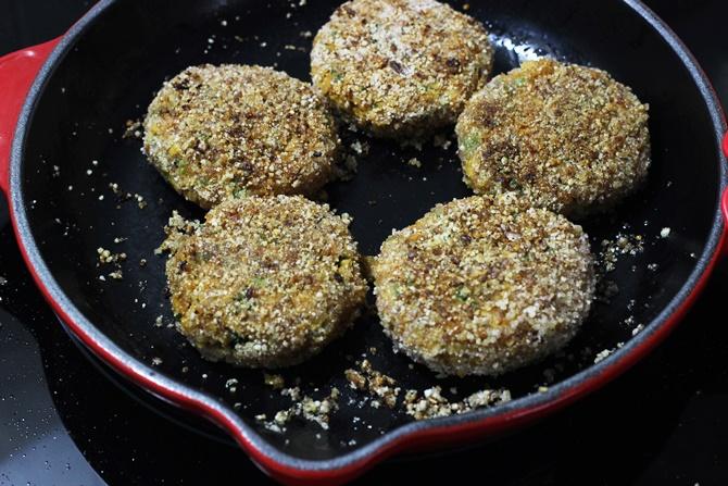 frying soya kabab