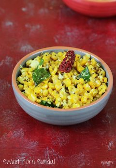 Sweet corn sundal recipe | Easy sweet corn recipes for kids
