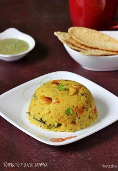 Tomato upma recipe video | Andhra style tomato rava upma recipe