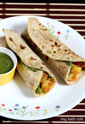 Kathi rolls recipe | How to make veg kati roll | Kids Recipes