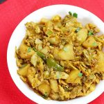 Aloo patta gobhi sabzi recipe |  Potato cabbage stir fry recipe