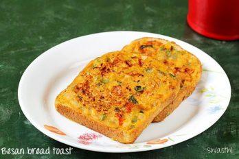 Besan bread toast recipe on tawa under 15 minutes