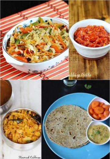Cabbage recipes | Patta gobhi recipes |  16 quick Indian cabbage recipes