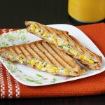 Corn cream cheese sandwich recipe | Grilled corn cheese sandwich