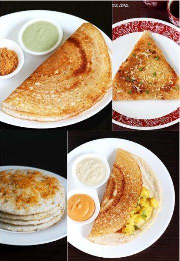 Dosa recipes | 15 Dosai or dosa varieties | South Indian dosa recipes