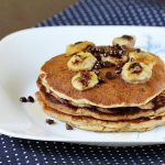 Eggless banana pancakes recipe |  How to make eggless banana pancake