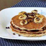 Eggless banana pancakes recipe |  How to make eggless banana pancake