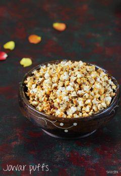 Jowar pops recipe | Spiced jowar puffs recipe | Jonna pelalu