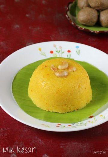 Milk rava kesari recipe   How to make milk kesari recipe