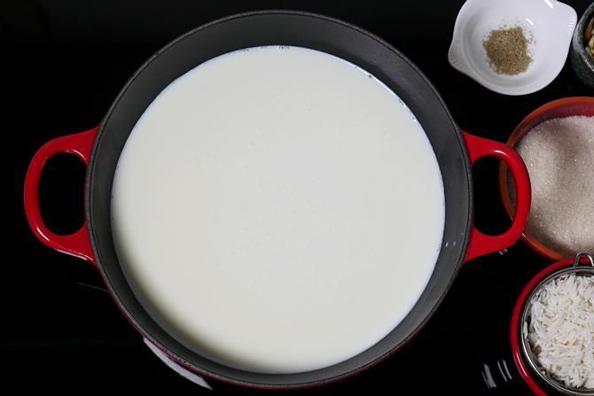 heat milk for kheer recipe
